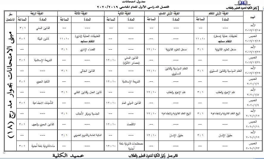 first term 2019-2020
