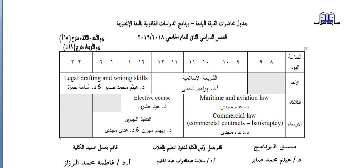 fourth year english