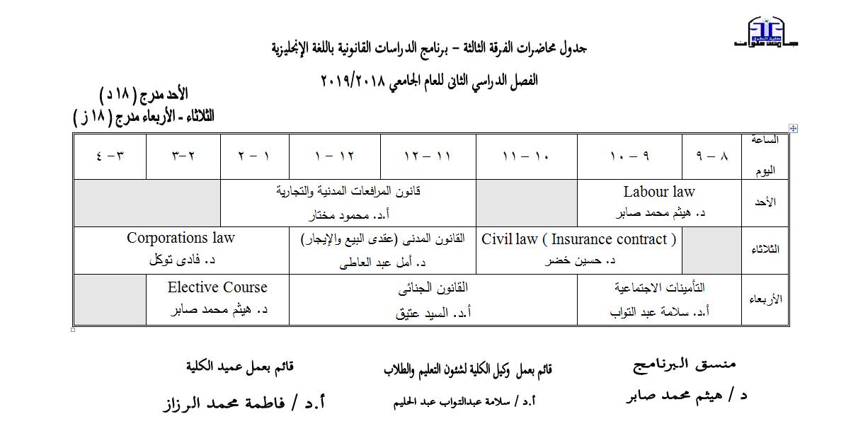 third year english